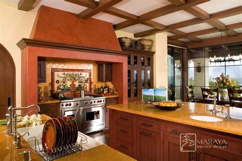 mediterranean kitchen designs spanish revival kitchen with malibu tile mediterranean