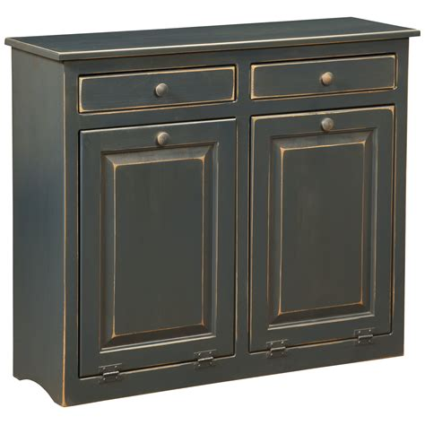 Bin Cabinet by Dcor Design Cabinet With Trash Bin Wayfair