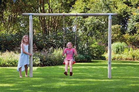 swinging on a swing set paula garden swing set