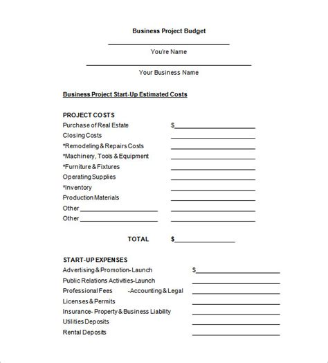 Simple Budget Proposal Template Budget Proposal Templates 11 Free Sle Exle Format Download Office Furniture Budget Template