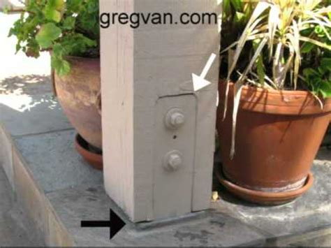 Patio Post Base Tips   How To Avoid Water Damage And