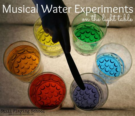 child craft light table musical water experiments on the light table still