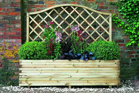 Garden Planters Uk by Forest Venice Wooden Planter Gardensite Co Uk
