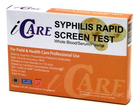 icare syphilis home test kit rapid test kit mart