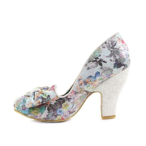 womens irregular choice nick of time floral print bow