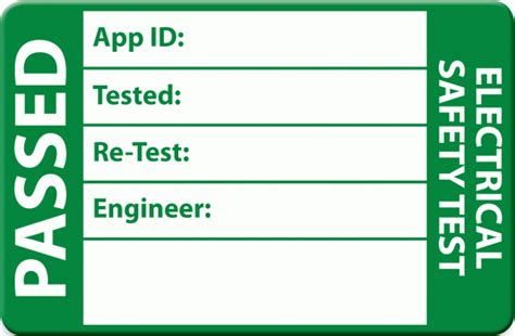 Pat Testing For Musicians Explained Test Label Template