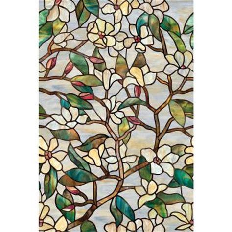 artscape 24 in x 36 in summer magnolia decorative window