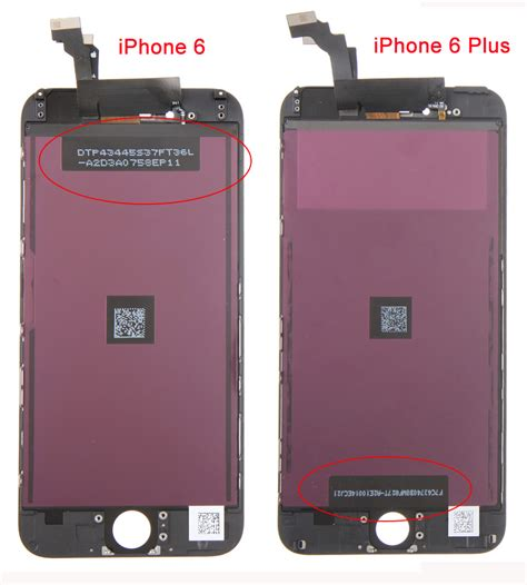 what s the difference between iphone 6 and 6 plus differences between iphone 6 and iphone 6 plus lcd assembly
