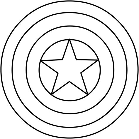 superhero shield coloring page captain america shield coloring pages