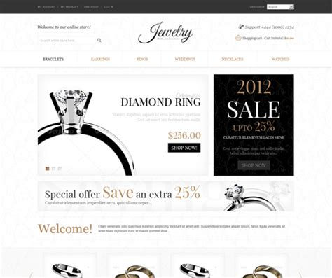 wordpress themes jewelry store 20 accessories jewelry website templates and wordpress