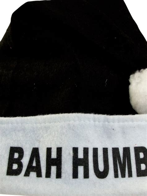 plush bah humbug santa hat santa plush black hat with bah humbug 40cm santa hats suits the