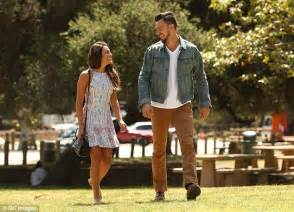 Park Bench Tv Show Lea Michele Dazzles During Date With New Boyfriend Matthew