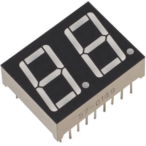 7 Segmen Seven Segment Led Display 1 Digit Common Cathode 056 7 segment 2 digit display cc robotech shop