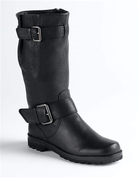 gentle souls boots gentle souls buckled up boots in black lyst