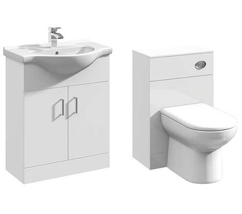 Bathroom Vanity Units Suppliers 2 Door 650mm Bathroom Vanity Unit With Back To Wall Wc Unit