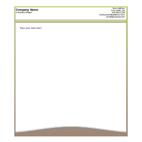 html letterhead template free printable business letterhead templates letter of