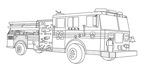 print download educational fire truck coloring pages