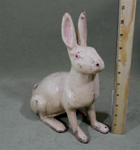 antique cast iron rabbit doorstop large 10 5inch antique hubley cast iron white rabbit doorstop nr ebay
