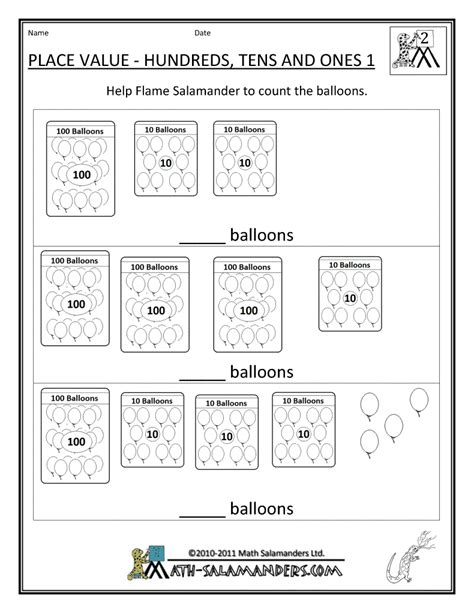 2nd Grade Place Value Worksheets by 11 Best Images Of Worksheets Learning Place Value Place