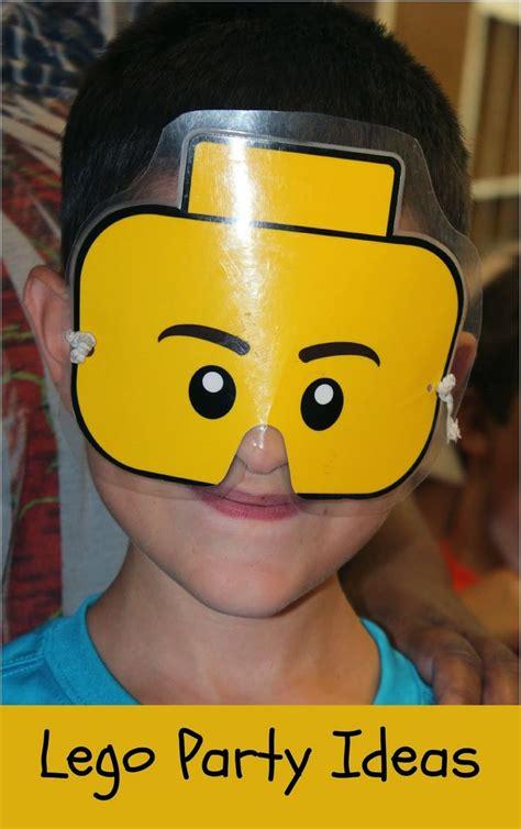 lego mask printable template lego party ideas kids birthday parties free printables