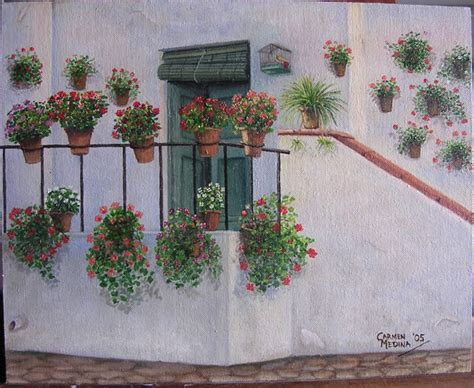 pinturas de patios andaluces cuadros de patios de c 243 rdoba y andaluc 237 a por medina