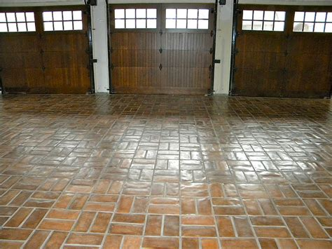 werkstatt bodenfliesen concrete tiles garage floor wax on finish wow