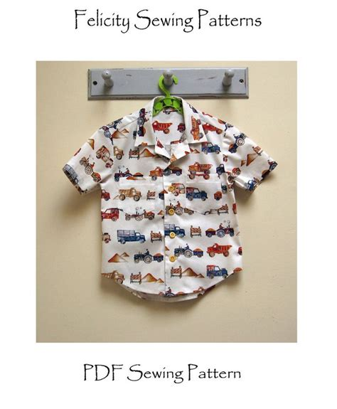 hawaiian shirt pattern sewing boy s shirt pattern the thomas shirt pdf sewing pattern