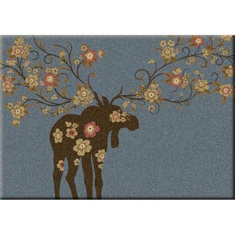 moose rug moose blossom rug by american dakota