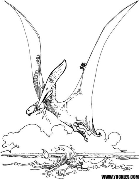 Pterodactyl Coloring Pages Dinosaurs Pictures And Facts Pterodactyl Coloring Pages