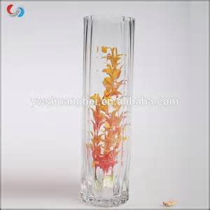 wholesale cheap clear glass cylinder vases for