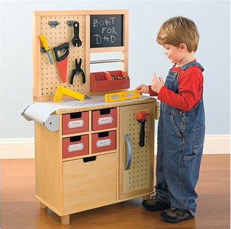 boys wooden tool bench one step ahead workbench a well toys and mom