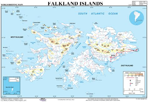 falkland islands on map map of the falklands pengoing south