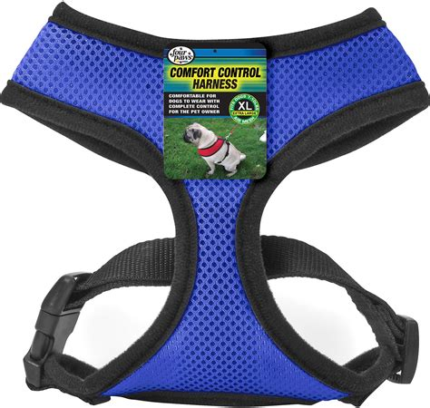comfort control four paws comfort control dog harness blue x large