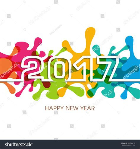 happy new year text vector happy new year 2017 text design stock vector 528245212