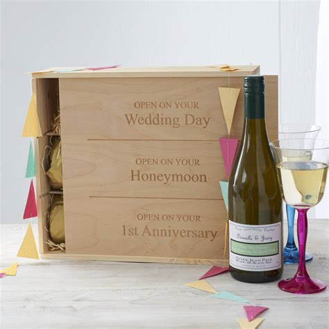 Wedding Gift Wine Box by Personalised Wedding Wine Box By Intervino