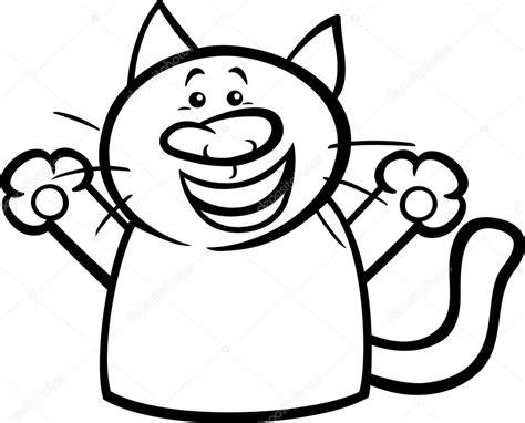 happy cat coloring page happy cat cartoon coloring page stock vector 169 izakowski