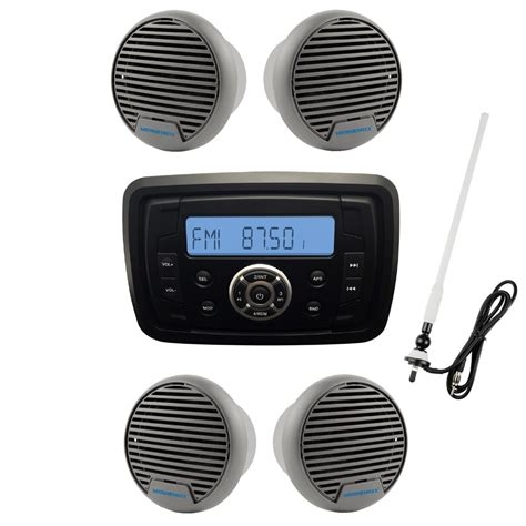 Speaker Bleutooth Kerang Radio Fm Mp3 waterproof marine radio audio stereo receiver sound system mp3 fm am with bluetooth function 3