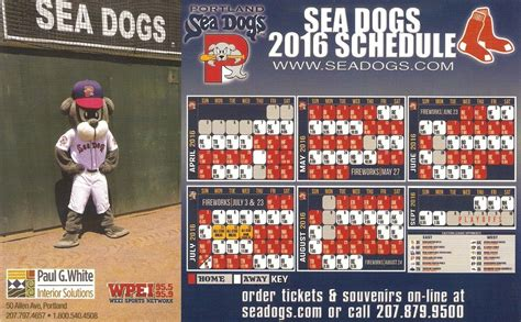 portland sea dogs schedule 2017 portland sea dogs 2016 promotional stadium giveaways