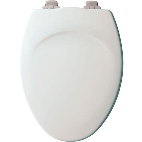 bemis elongated open front toilet seat in white 1550pro