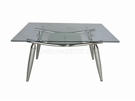 glass top metal base modern dining table