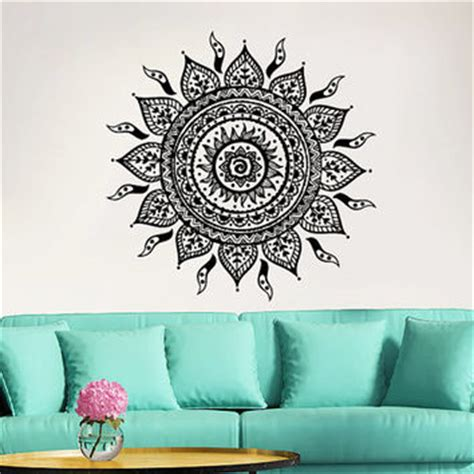 moroccan pattern wall decal mandala wall decal yoga studio vinyl from incredibledecals on