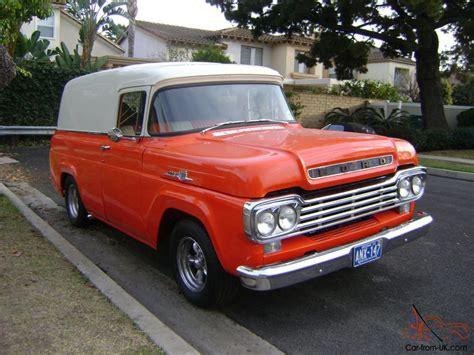 59 ford panel truck 1959 ford f100 f1 panel truck corvette motor muncie 4