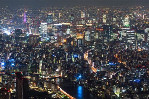 japanese town tokyo city view from skytree 1 photograph by hisao mogi