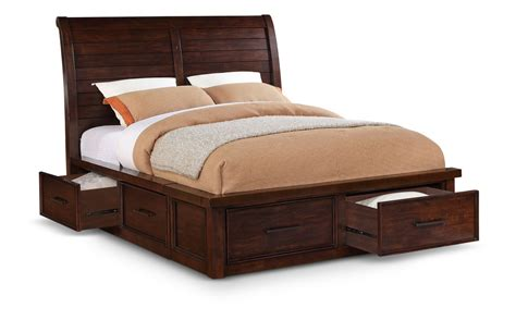 Storage Bedroom Furniture by Delray King Sleigh Bed With Storage And Awesome Bedding