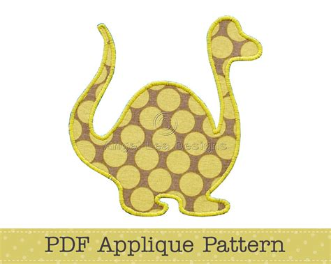 dinosaur applique template animal diy children by