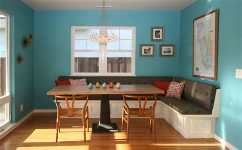 glass round dining table Dining Room Contemporary with