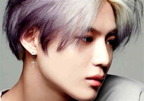 model rambut pria korea pendek  panjang april