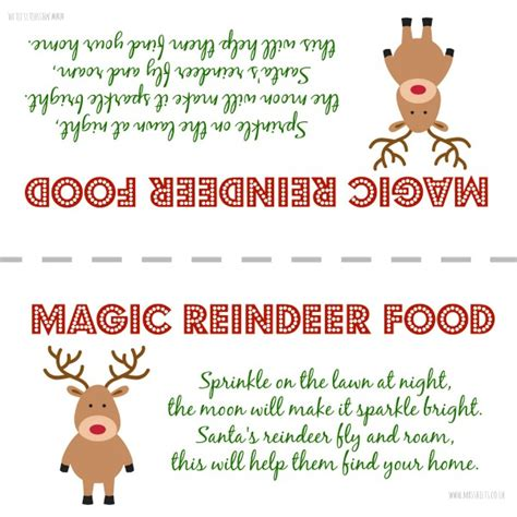 printable reindeer chow gift tag free printable label for magic reindeer food perfect to