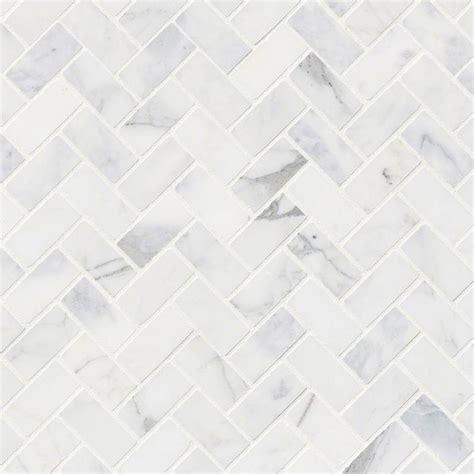 Faux Stone Kitchen Backsplash Msi Calacatta Cressa Herringbone Honed Marble Mosaic Tile