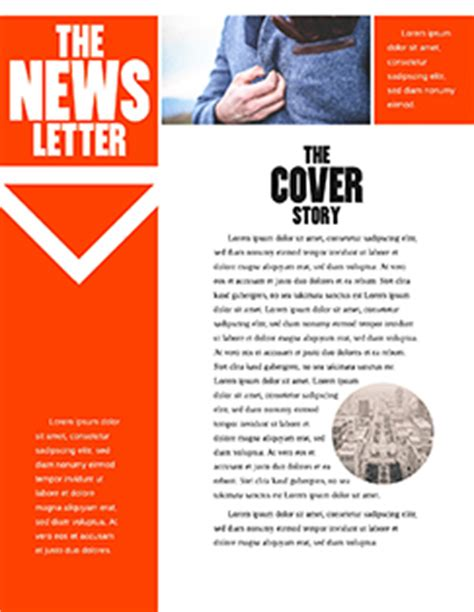 newsletter format 13 free newsletter layouts lucidpress